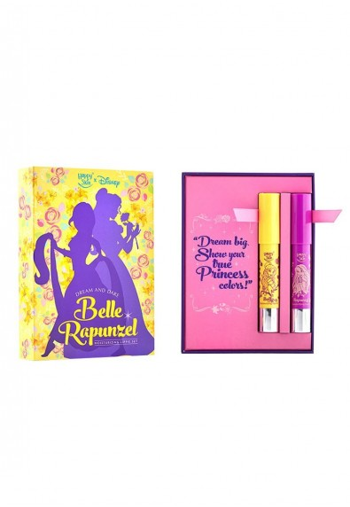 Happy Skin X Disney Princess Moisturizing Lippie Set in Belle and Rapunzel