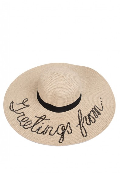 BEACH HAT W/ WORD