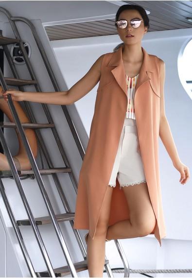 BRAYLEE S/L VEST DRESS