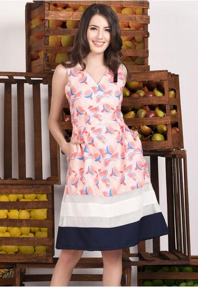 PINK LEMONADE S/L DRESS