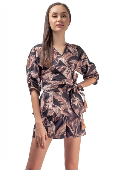 JERSEY 3/4 PLAYSUIT