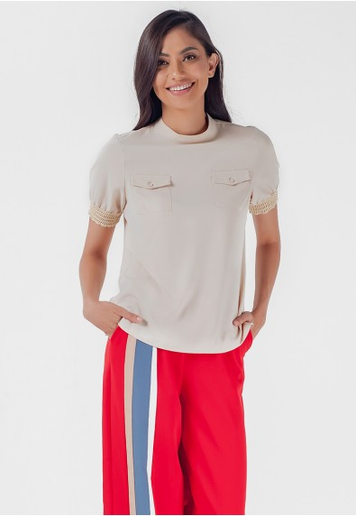 Blissful Harmony Mhelissa Short Sleeves Top