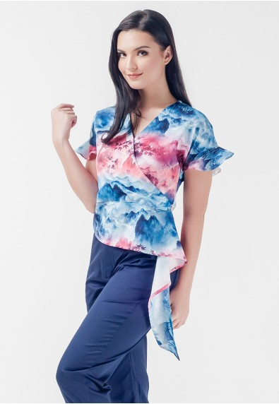 Mysterious Elements Neeson Short Sleeves Top