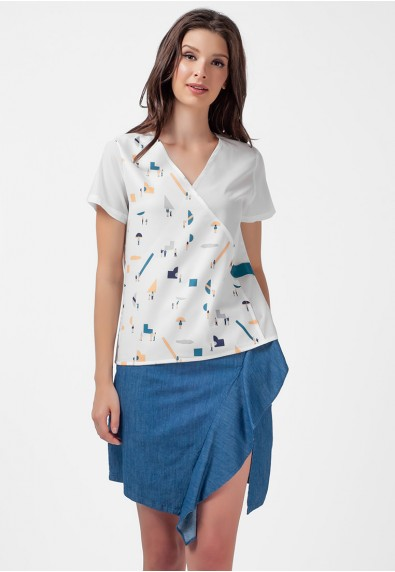 Blissful Harmony Montanah Short Sleeves top