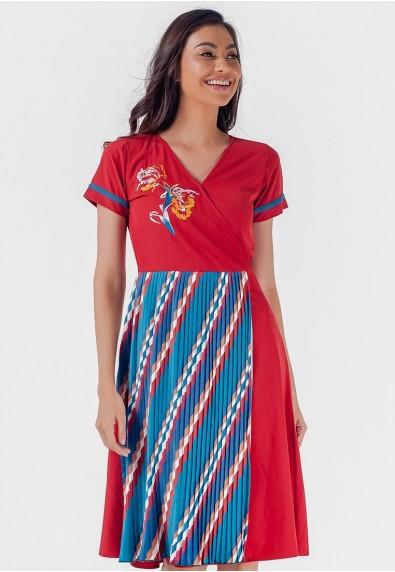 Blissful Harmony Monette Short Sleeves Dress