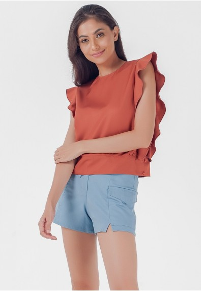 Blissful Harmony Mikayla Short Sleeves Top