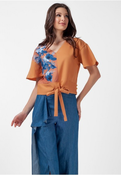 Blissful Harmony Mattea Short Sleeves Top