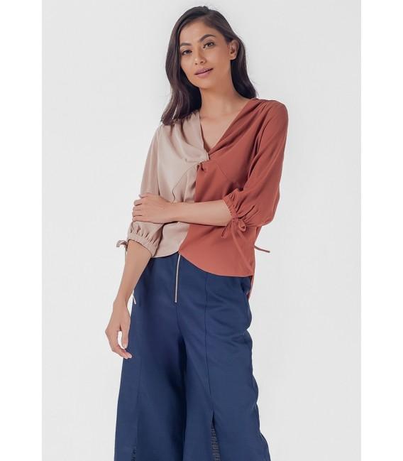 Blissful Harmony Mahsuri Short Sleeves Top