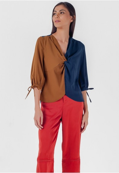 Blissful Harmony Mahsuri Short Sleeves Top