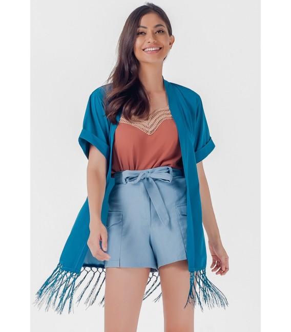 Blissful Harmony Mashika Short Sleeves Kimono