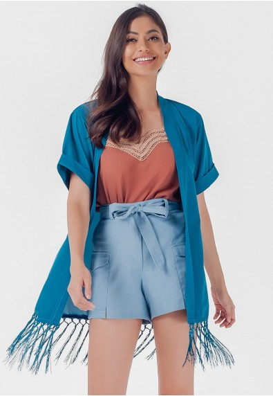 Blissful Harmony Mashika Short Sleeves Kimono