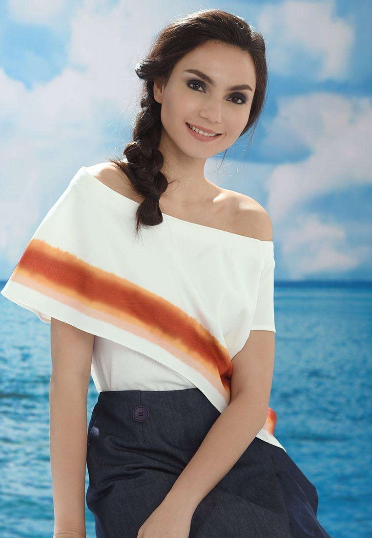 San Remo Lidell Offshoulder Top Offwhite