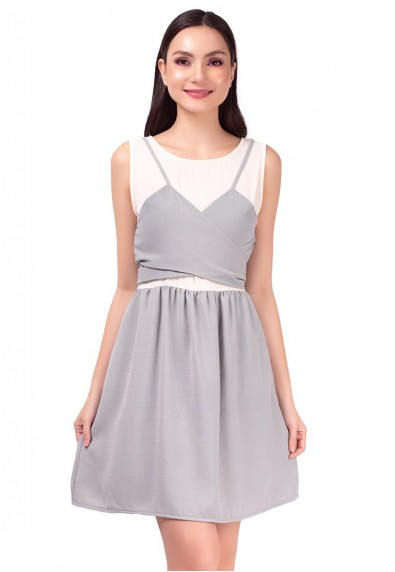 SAN REMO LYRIC SLEEVELESS DRESS