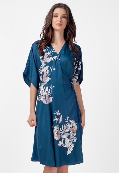 SAN REMO LOUELLA SHORT SLEEVES WRAP DRESS