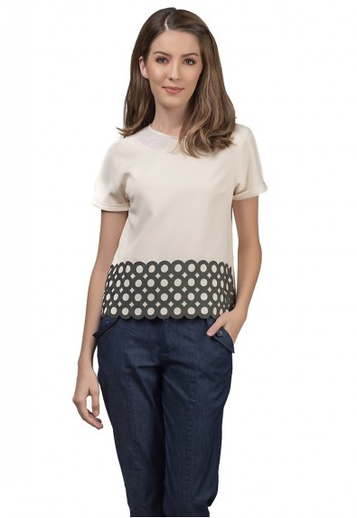RIVIERA JOURDIN SHORT SLEEVES TOP