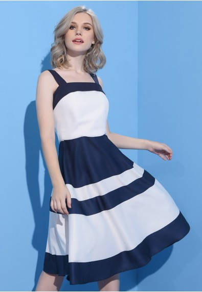 BLUEPERIOD NAVY SLEEVELESS DRESS