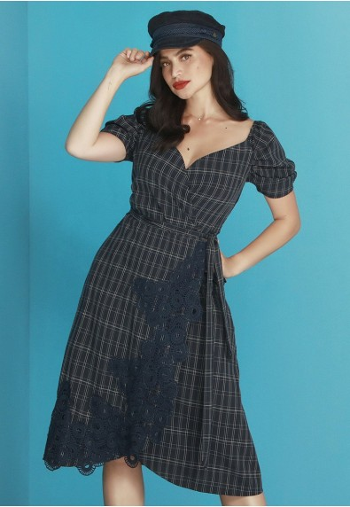 BLUEPERIOD MIDNIGHT SHORTSLEEVES DRESS