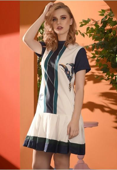 Romantic Interlude Ocamilla Short Sleeves Dress