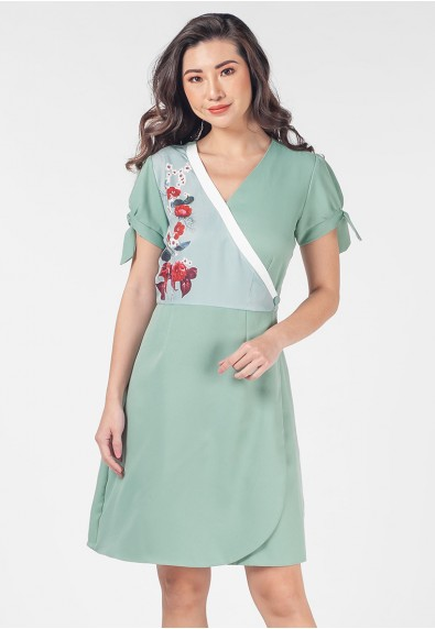 Romantic Interlude Oleilah Short Sleeves Dress