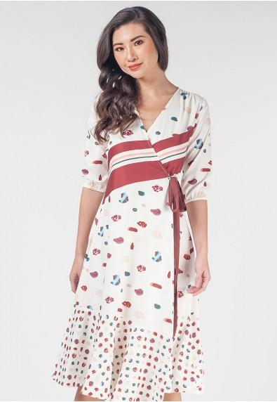 Romantic Interlude Odrina Quarter Sleeves Dress