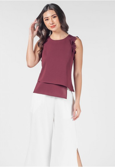 Romantic Interlude Oanah Sleeveless Top