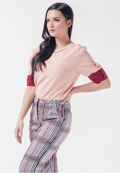 Romantic Interlude Oriana Short Sleeves Top
