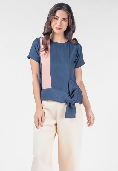Romantic Interlude Onicha Short Sleeves Top
