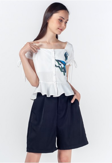 Romantic Interlude Ozanne Short Sleeves Top