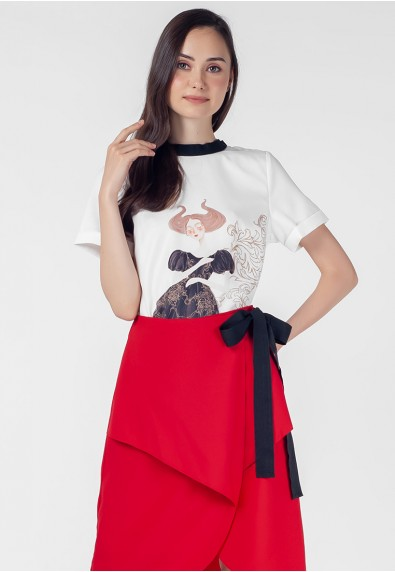THE ZODIAC TAURUS 2-IN-1 SHORT SLEEVES DRESS