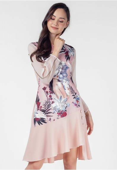 THE ZODIAC VIRGO LONG SLEEVES DRESS