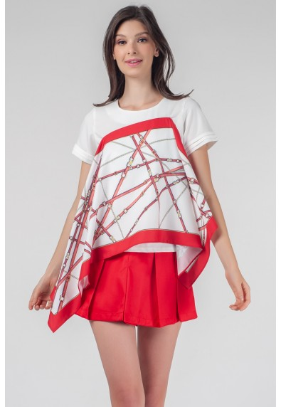 RED CURRANT QUISNIE SHORT SLEEVES TOP
