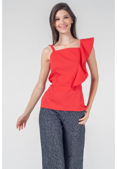 RED CURRANT QLOE SLEEVELESS TOP