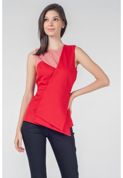 RED CURRANT QUETA SLEEVELESS TOP