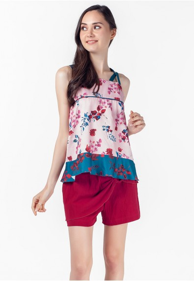VELVET ROSE POISE SLEEVELESS TOP