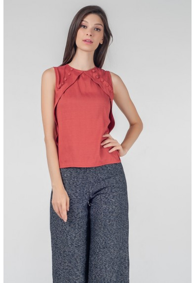 RED CURRANT QUINTY SLEEVELESS TOP