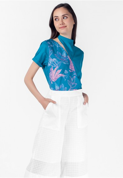 VELVET ROSE PEMBROOKE SHORT SLEEVES TOP