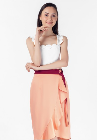 VELVET ROSE PETALIA SLEEVELESS TOP