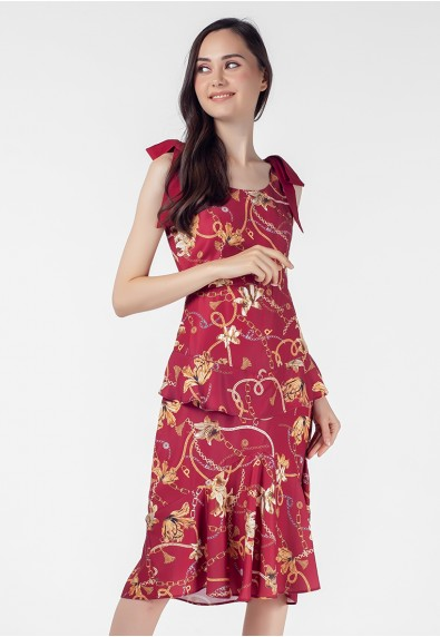VELVET ROSE PASCHALL SLEEVELESS DRESS