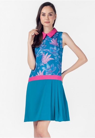 VELVET ROSE PEMBROOKE SLEEVELESS DRESS
