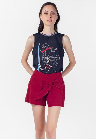 VELVET ROSE PEDDLER SLEEVELESS TOP