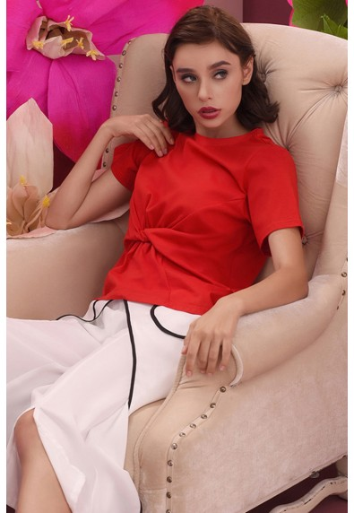 RED CURRANT QUESLIE SHORT SLEEVES SHIRT
