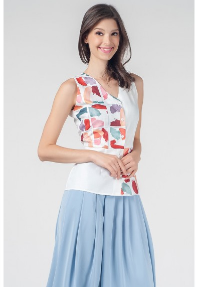 RED CURRANT QUANTI SLEEVELESS TOP