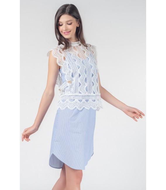 VELVET ROSE PHOENICS 2-IN-1 SLEEVELESS DRESS
