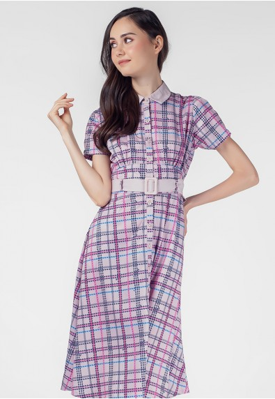 VELVET ROSE PRATT SHORT SLEEVES DRESS