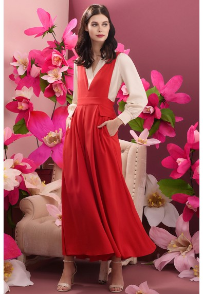 RED CURRANT QUELLE PANTSUIT