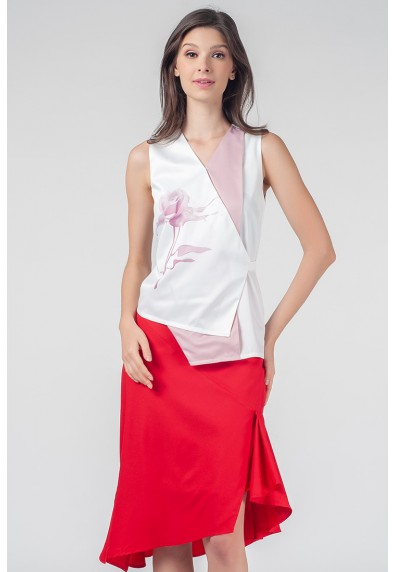 RED CURRANT QLEA SLEEVELESS TOP