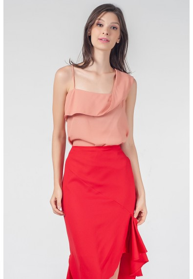 RED CURRANT QUORRA SLEEVELESS TOP