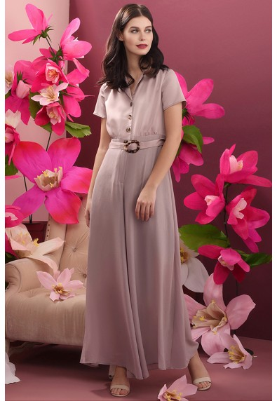 RED CURRANT QUINTUS SHORT SLEEVES PANTSUIT
