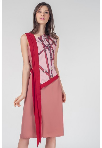RED CURRANT QUISNIE SLEEVELESS DRESS