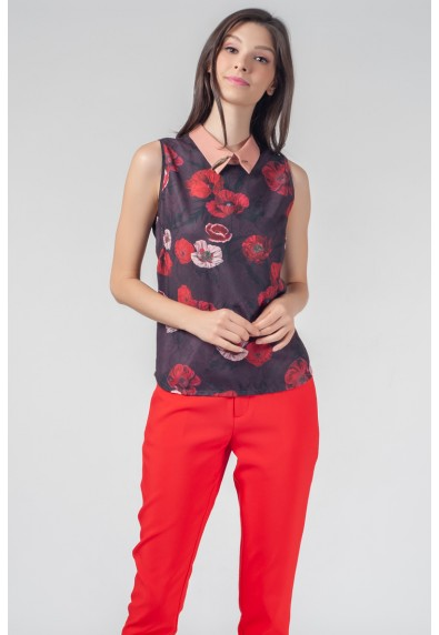 RED CURRANT QUESNEL SLEEVELESS TOP